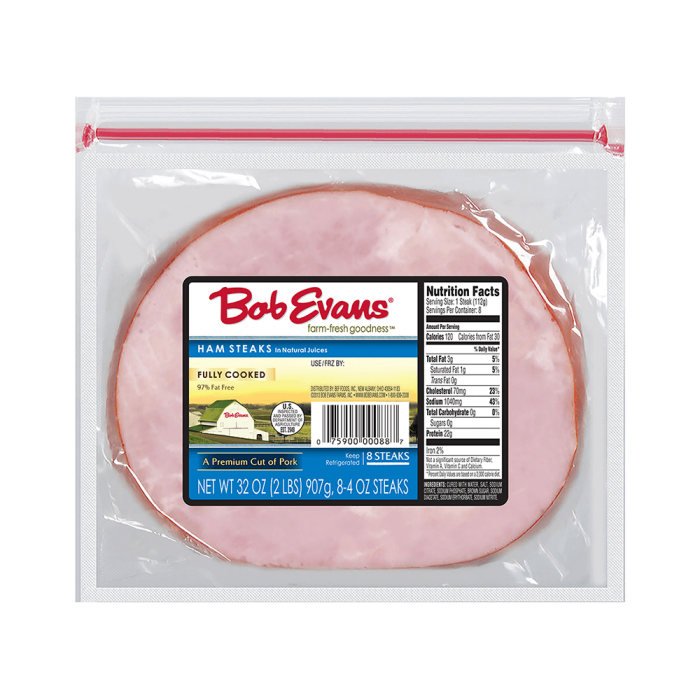 Bob Evans Fully Cooked Ham Steaks