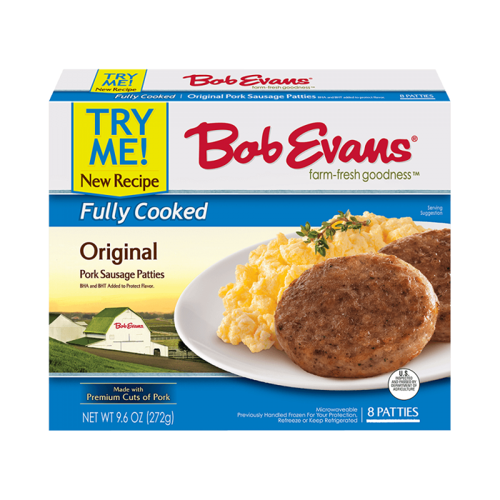 Bob Evans Fully Cooked Original Patties