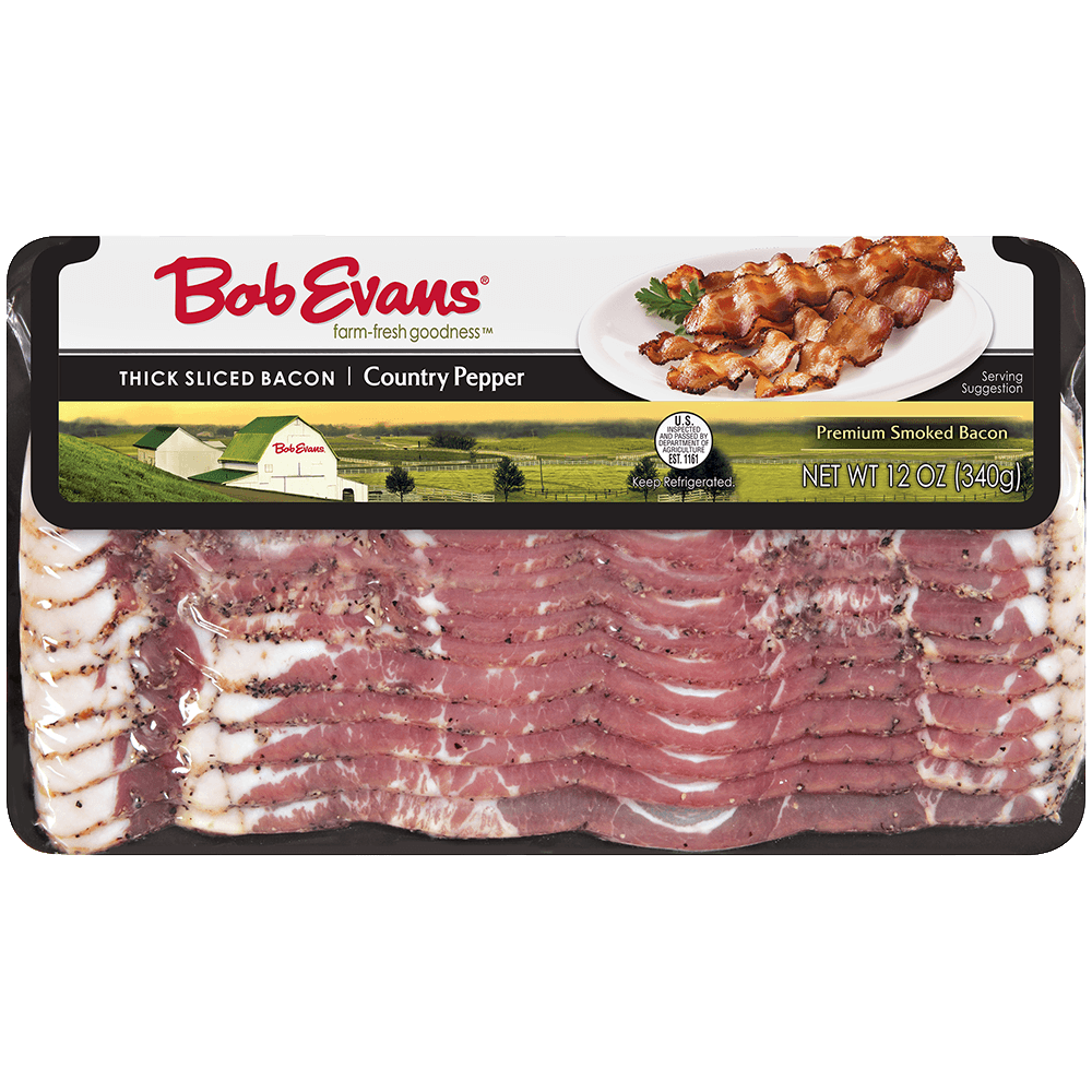 Bob Evans Thick Sliced Country Pepper Bacon