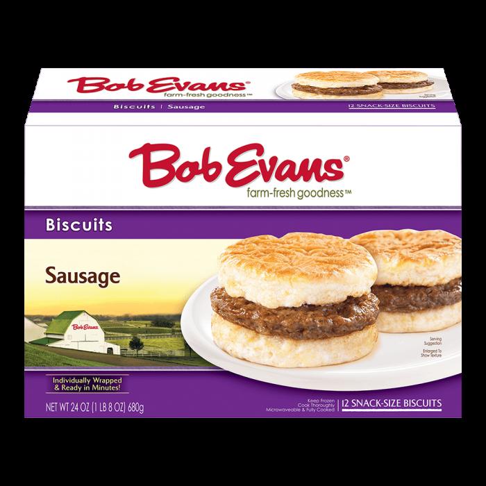 Bob Evans Snack Size Sausage Biscuit 12 ct