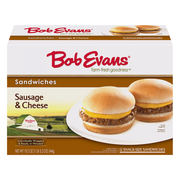 Bob Evans Snack Size Sausage Cheese Sandwich 12 ct