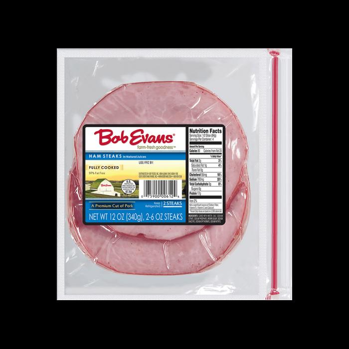Bob Evans Ham Steaks – 2 Slices