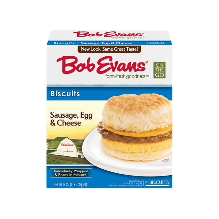 Bob Evans Sausage, Egg, Cheese Biscuit 4 ct