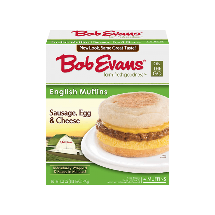 Bob Evans Sausage Egg Cheese Muffin 4 ct