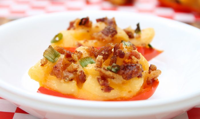 Bacon Mac and Cheese Stuffed Peppers