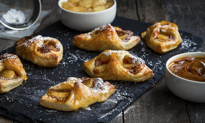 Glazed Apple and Dulce de Leche Puff