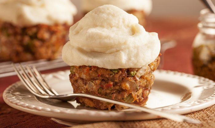 Italian Mini Meatloaf and Garlic Mashed Potatoes