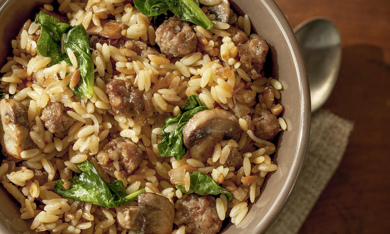 Italian Sausage and Mushroom Orzo