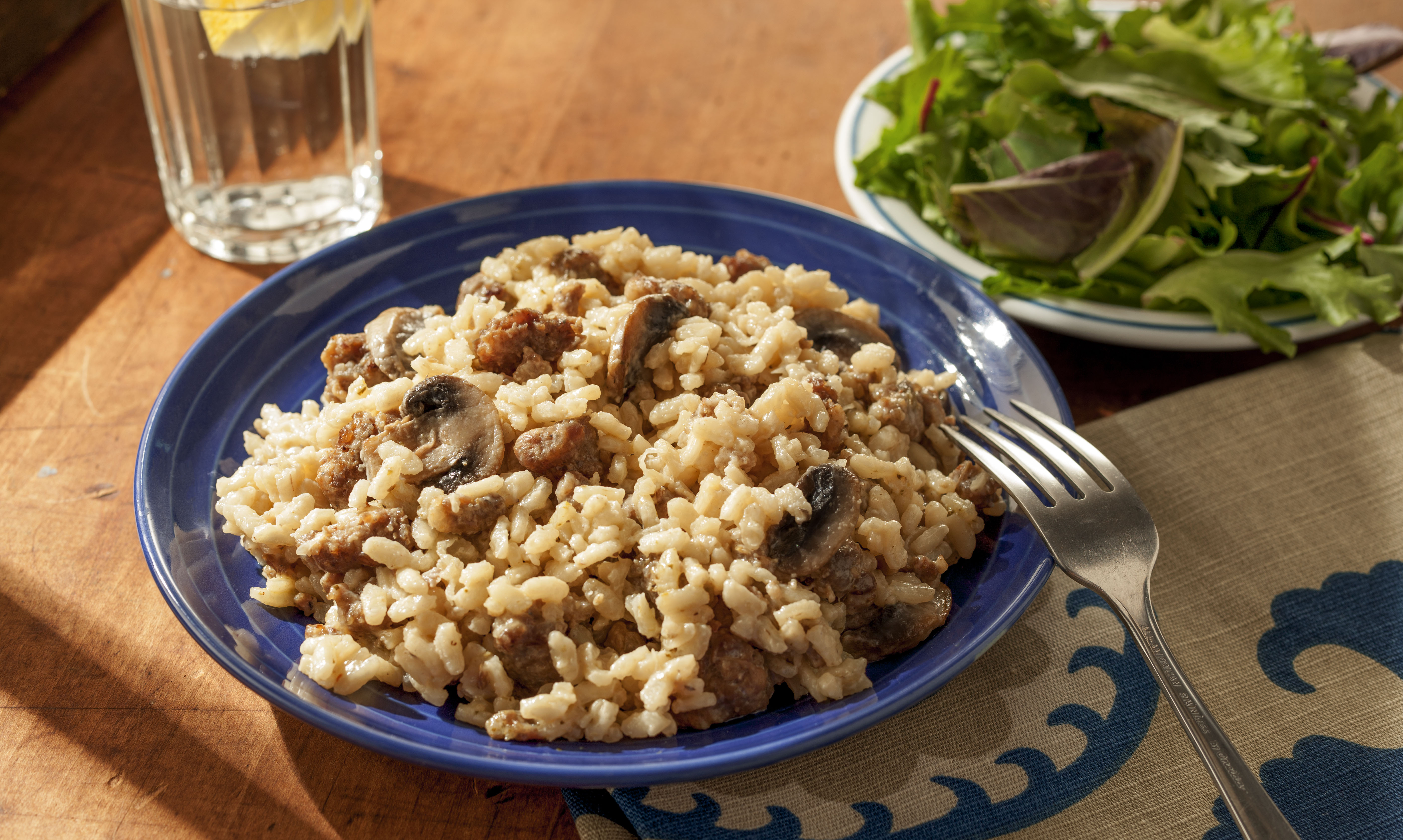 Italian Sausage and Mushroom Risotto