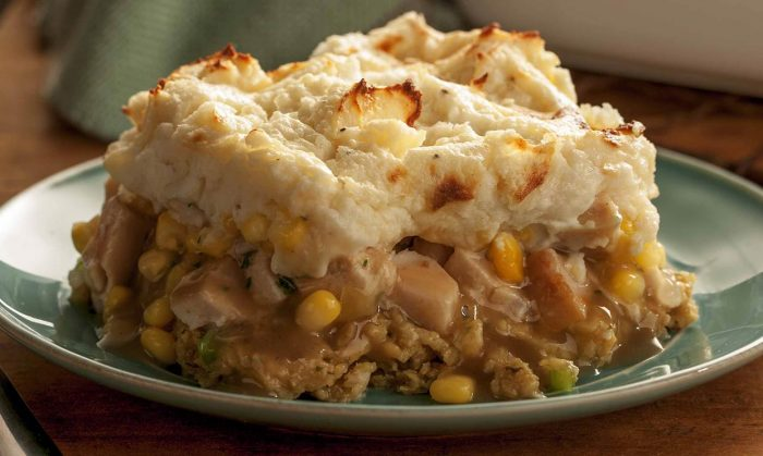 Mashed Potato and Turkey Pie