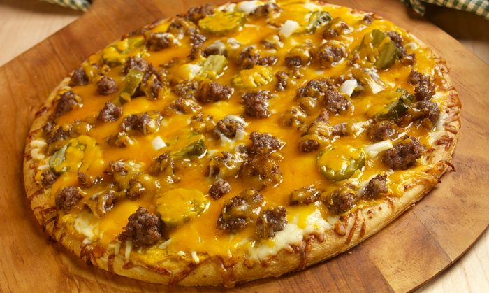 Sausage Cheeseburger Pizza