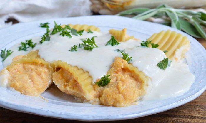 Sweet Potato Cheese Manicotti