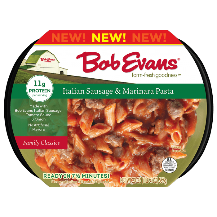 Bob Evans Italian Marinara Pasta