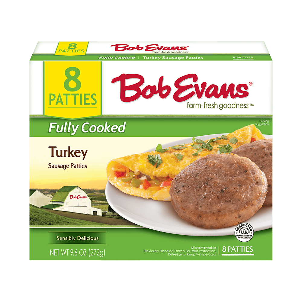 Bob Evans Fully Cooked Turkey Sausage Patties
