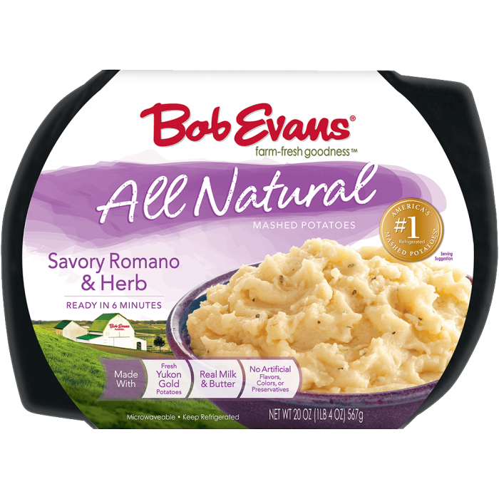 Bob Evans Natural Savory Romano and Herb Mashed Potatoes