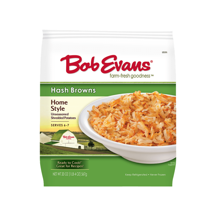 Bob Evans Home Style Hash Browns 20 oz