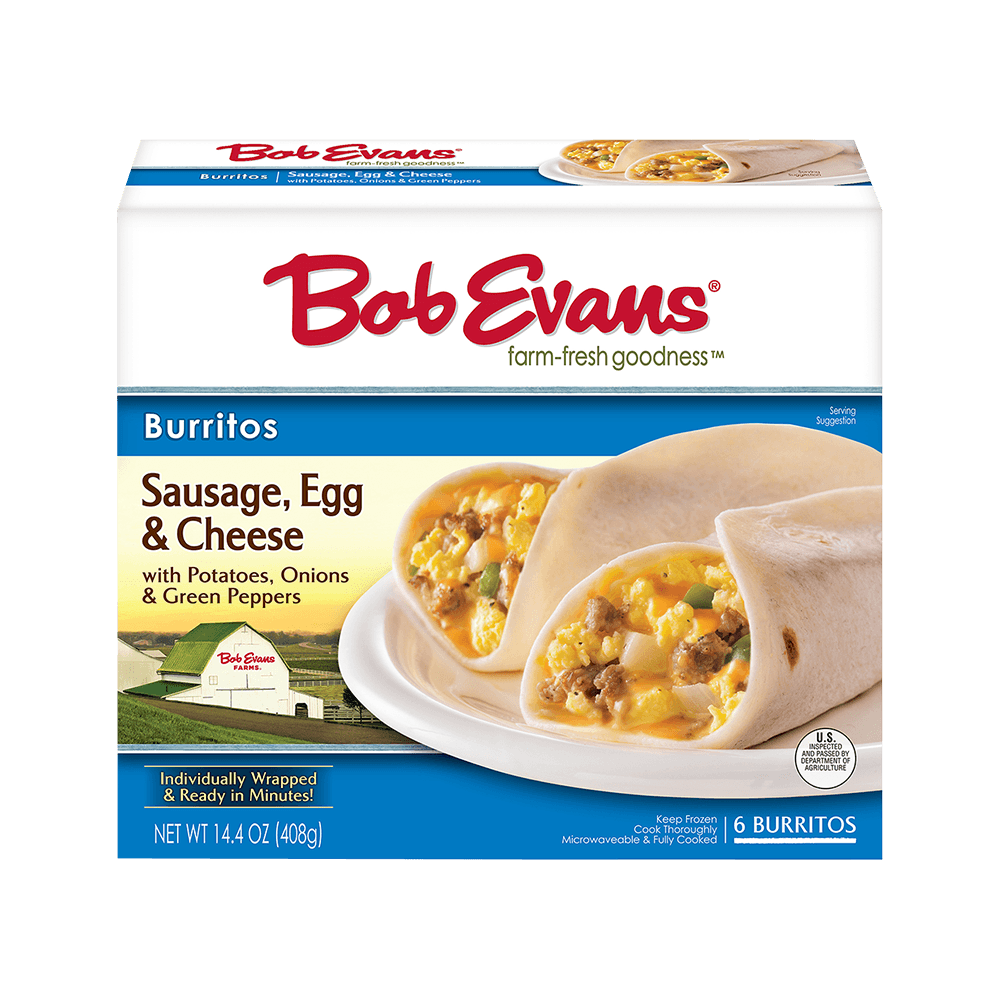 Bob Evans Sausage Egg Cheese Burrito 6 ct