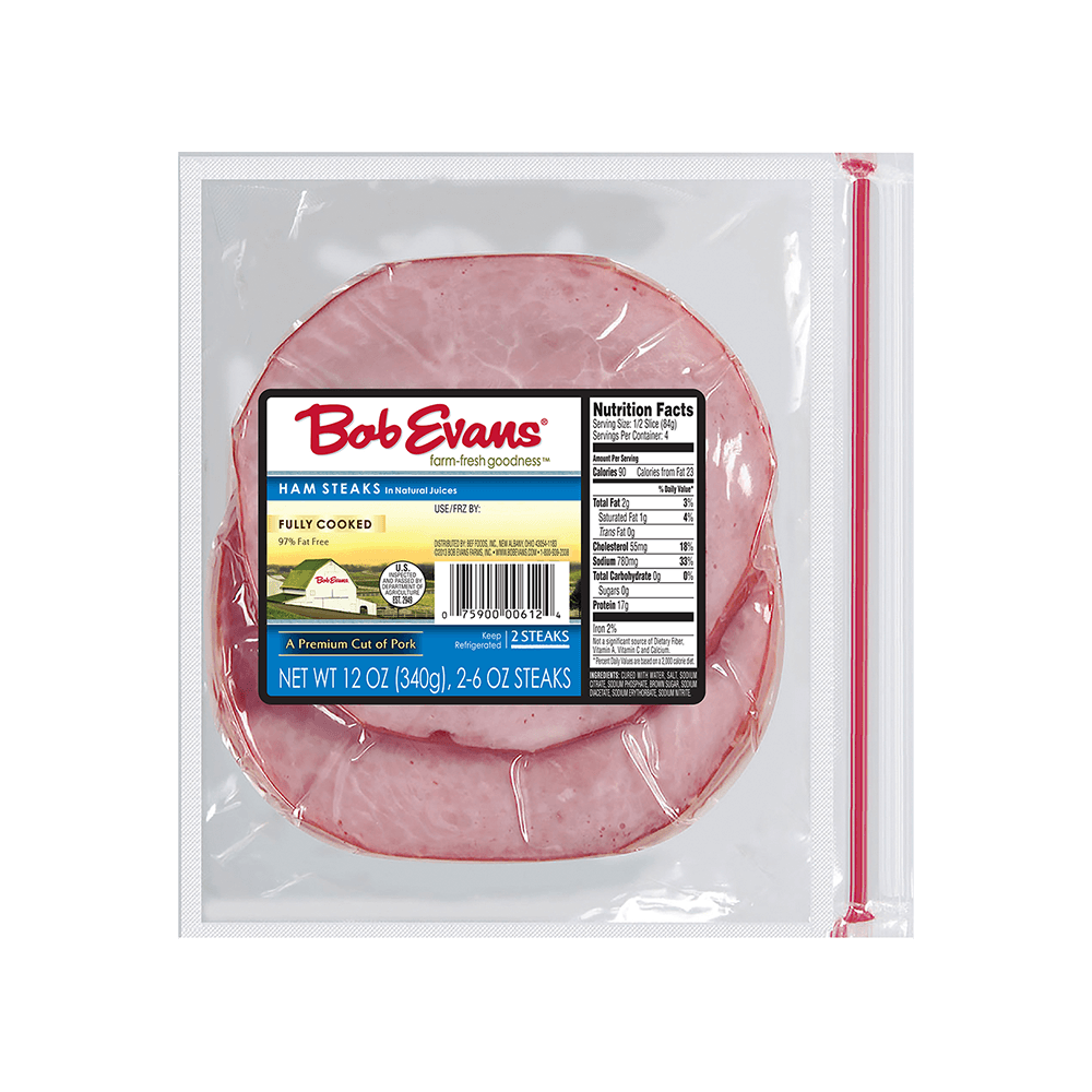 Bob Evans Ham Steaks – 2 Slices