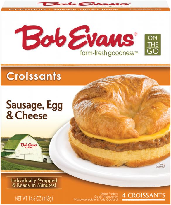 Bob Evans Sausage Egg Cheese Croissant 4 ct