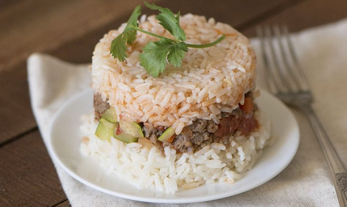 Arroz Tapado with Sausage
