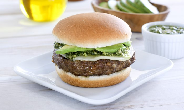 Pesto Avocado Sausage Burger