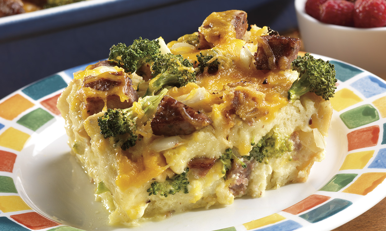 Sausage & Cheese Omelet Bake