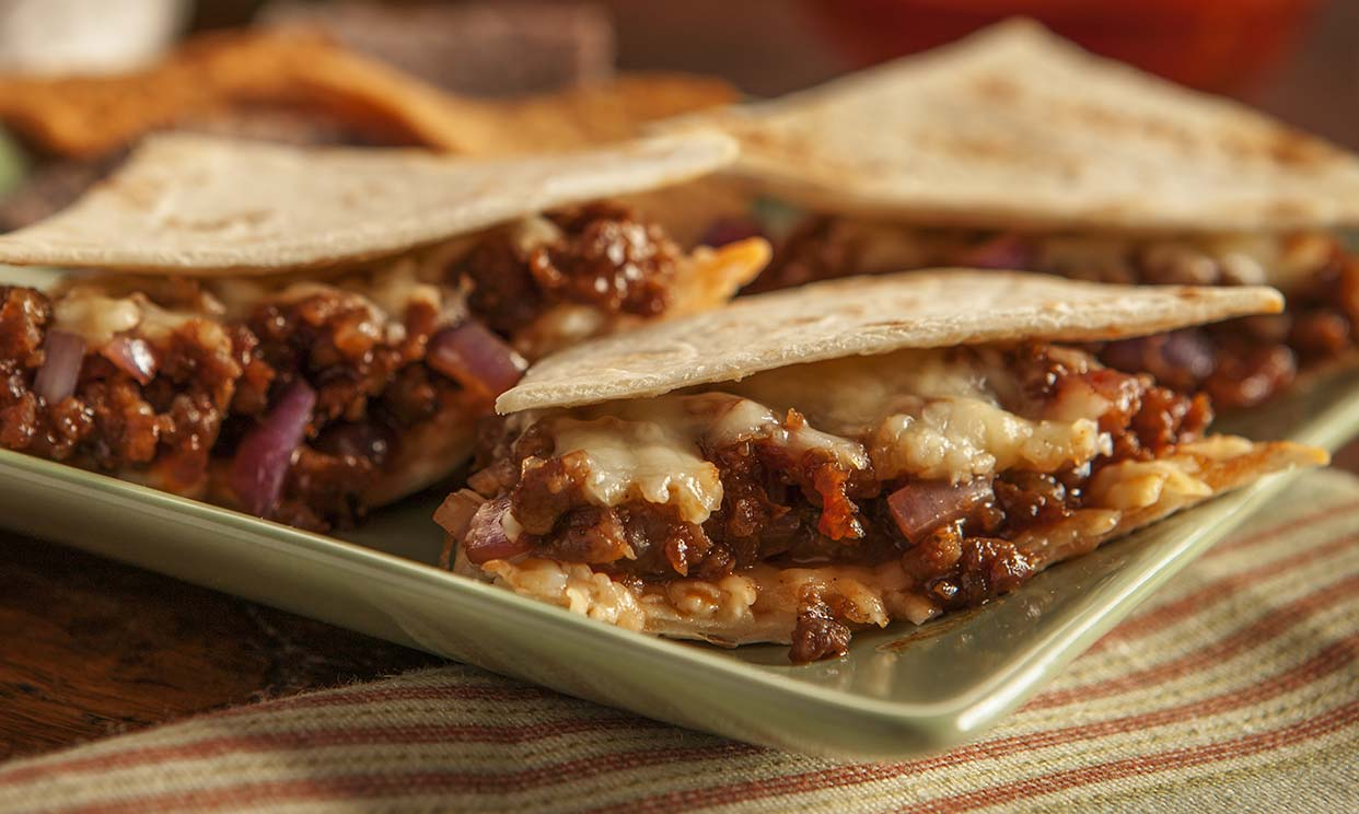 Sausage and BBQ Quesadilla