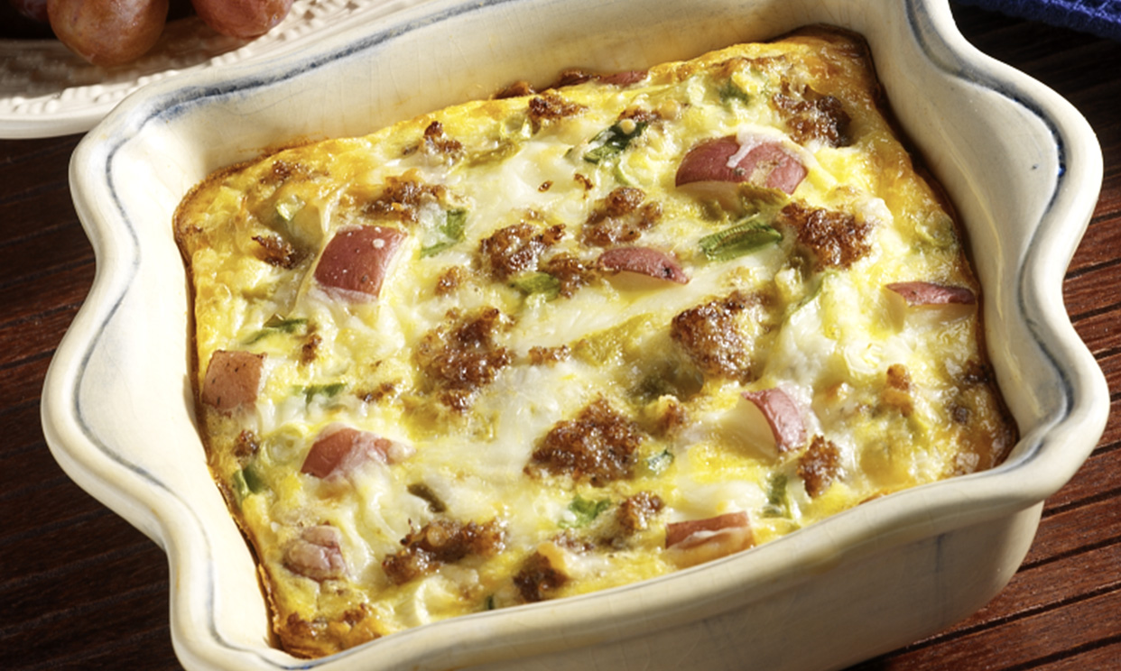 Sausage and Cheese Potato Casserole