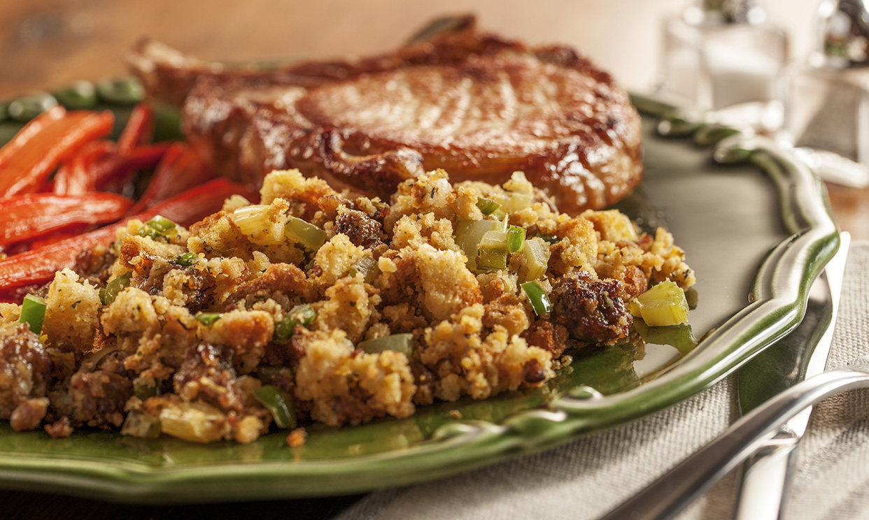 Sausage and Jalapeno Cornbread Stuffing