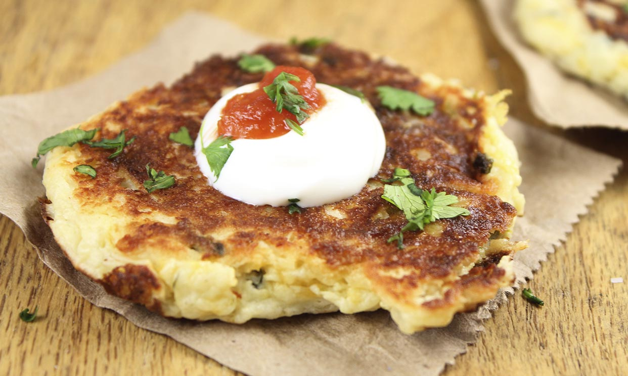 photo of Tex Mex Potato Pancakes recipe prepared