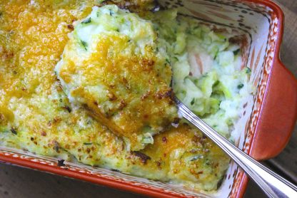 photo of Two Cheese Garlic Zucchini Mashed Potatoes recipe prepared