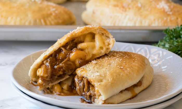 BBQ Mac and Cheese Calzones