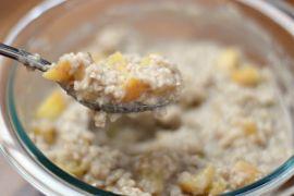 Peach Cobbler Protein Oatmeal