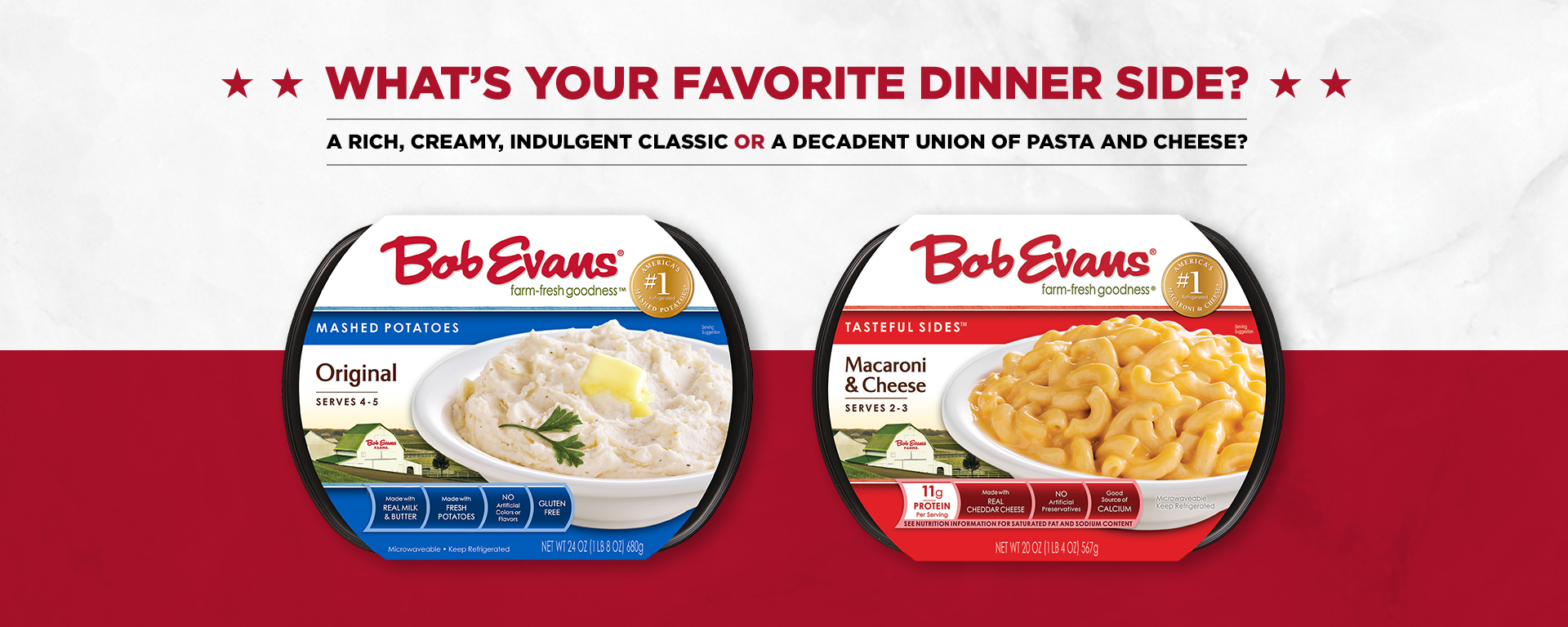 What's Your Favorite Bob Evans Dinner Side?