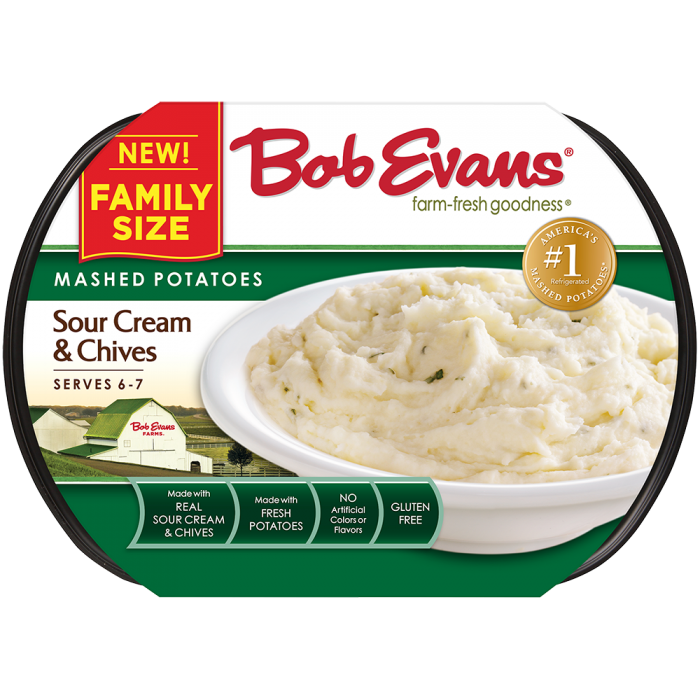 Bob Evans Family Size Sour Cream & Chive Mashed Potatoes